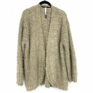 Kensie Open Front Eyelash Fuzzy Cardigan Sweater